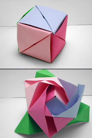 Tutorial to make the modular origami Magic rose box (Valerie ... | 450x299