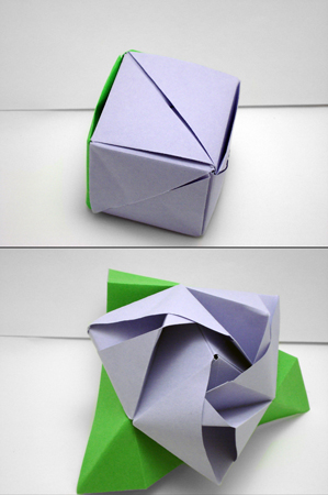 How to Make a Magic Origami Transforming Rose Cube! - Instructables | 450x299