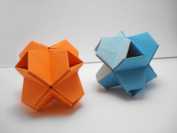 Origami Octahedron Box / Decoration Instructions ♢ - Paper Kawaii   450x600